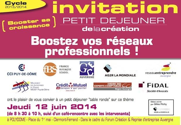 Petit-déjeuner de la création le 12 juin :  « Booster vos réseaux professionnels !»