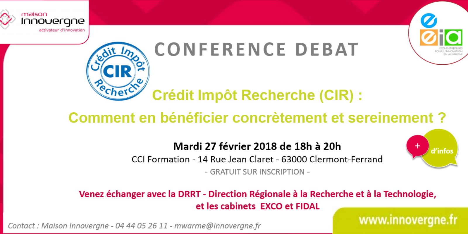 Rencontre-débat : Crédit Impôt Recherche (CIR) : Comment en bénéficier concrètement et sereinement?