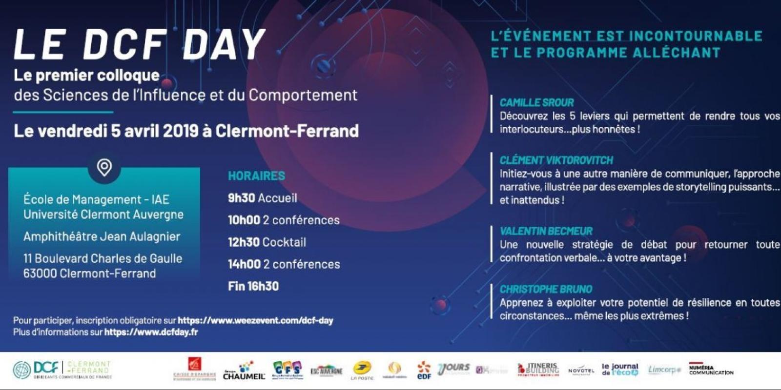 DCF DAY LE VENDREDI 5 AVRIL à CLERMONT-FERRAND