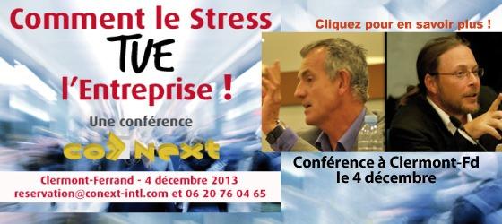 « Comment le Stress tue l'Entreprise ! » : Réponse par des chercheurs le 4 décembre 2013 à Clermont-Ferrand