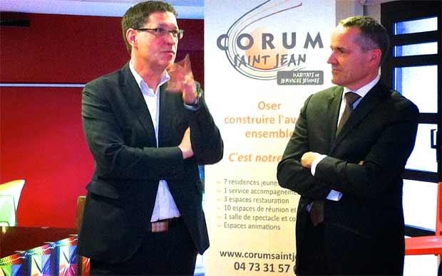 Signature d'un partenariat entre le Corum Saint-Jean et le Crédit Mutuel Massif Central pour le tremplin du Carrefour de la Chanson