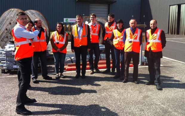 Les entreprises du groupement d'employeurs EPI ont visité vendredi 28 mars la plateforme logistique ERDF GRDF SERVAL de Riom