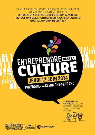 """Le Transfo propose un espace """"Entreprendre dans la culture"""" le 12 juin à Polydome"""