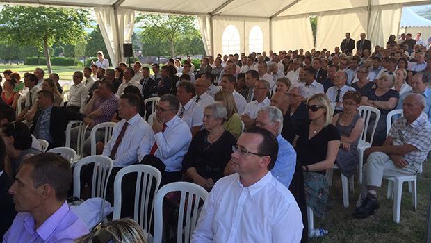 Invités par la Caisse d'Epargne d'Auvergne et du Limousin, 400 décideurs économiques à la rencontre de Claude Onesta