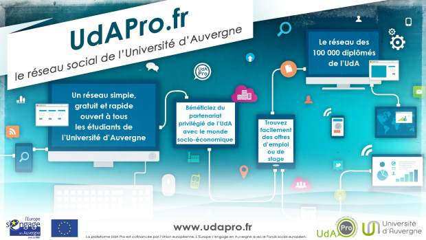 UdA Pro : le réseau professionnel de l'Université d'Auvergne