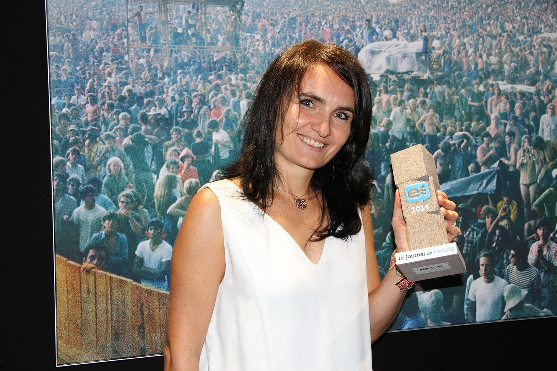 """Caroline Decombat, Papier d'Emotions : """"Le Trophée de l'Eco m'encourage pour développer mon entreprise !"""""""