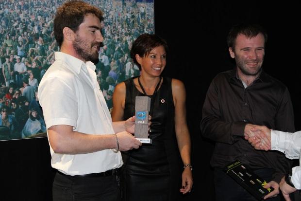 Pierre Delmas et Florent Malartre, 4D–VIRTUALIZ, lauréats de l'innovation du Trophée de l'éco