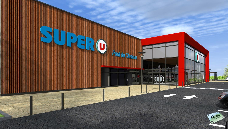 laurent ville ouvre son premier magasin super u pont du ch teau le journal de l 39 co. Black Bedroom Furniture Sets. Home Design Ideas