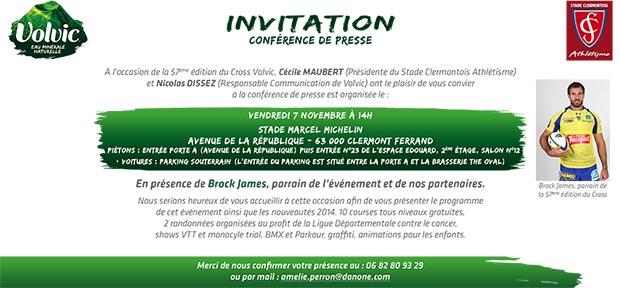 2014 11 07 Invitation Conference De Presse Brock James Cross Volvic