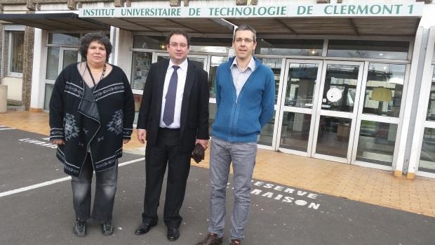 Nicolas Mainetti, directeur de l'IUT d'Auvergne, rencontre les présidents de l'INTERCLUBS