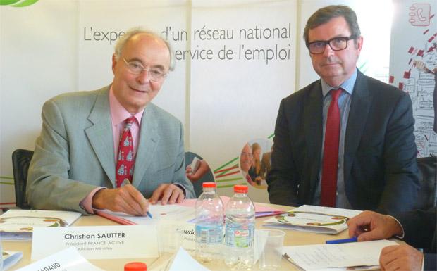 Christian Sautter signe la convention Cap'Jeunes à Clermont-Ferrand