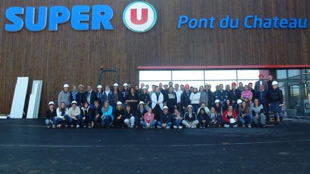 Ouverture du Super U à Pont-du-Château : 68 collaborateurs, plus de 3 000 clients attendus chaque jour et des millions d'euros d'investissements…