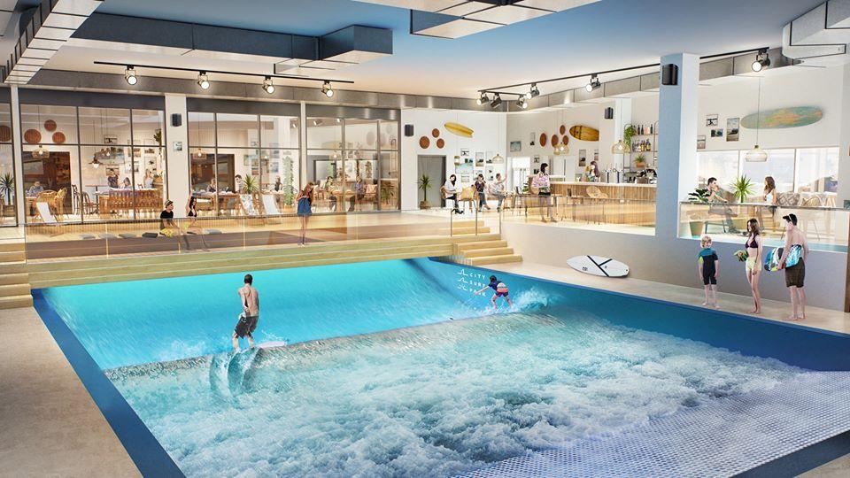"""La « plus grande vague de surf """"indoor"""" d'Europe » à côté du Parc OL"""