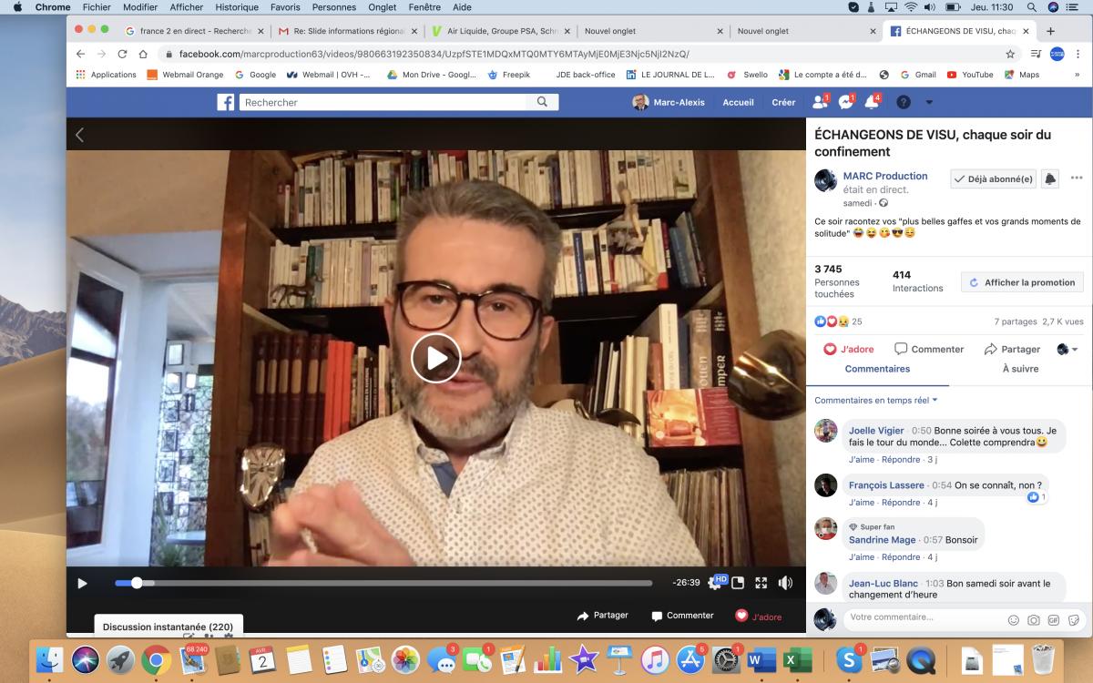 Initiative positive  | Un Live Facebook comme rendez-vous dans une journée de confinement