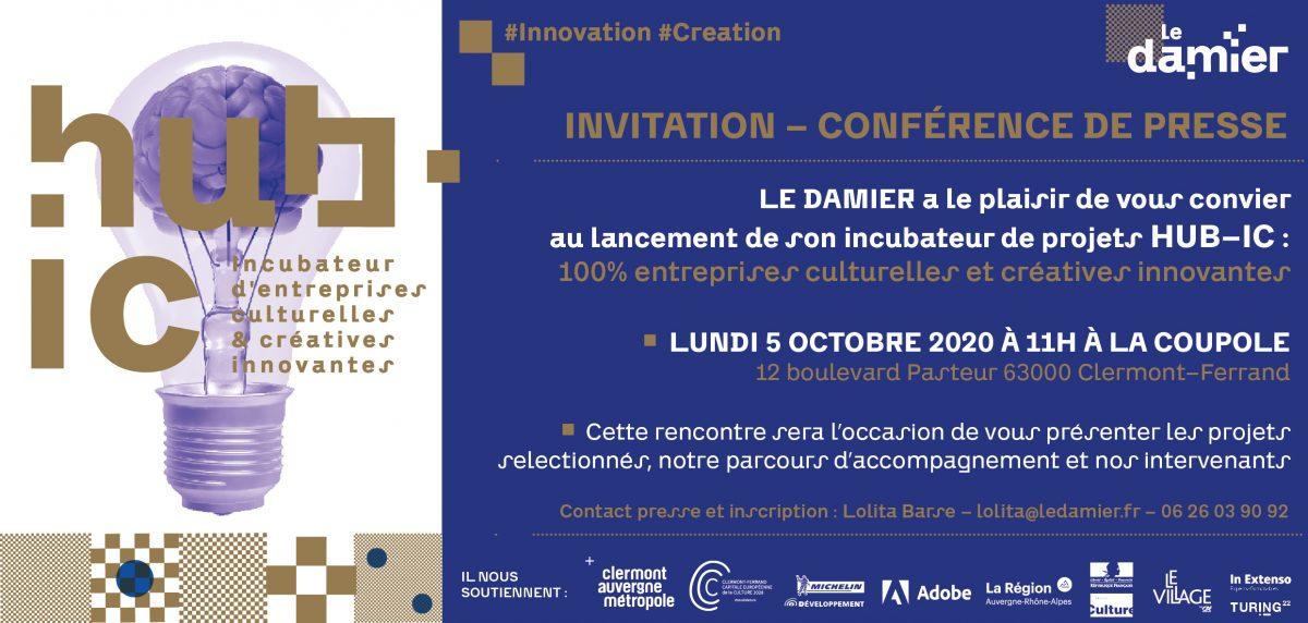 Le Damier | Lancement de l'incubateur HUB-IC