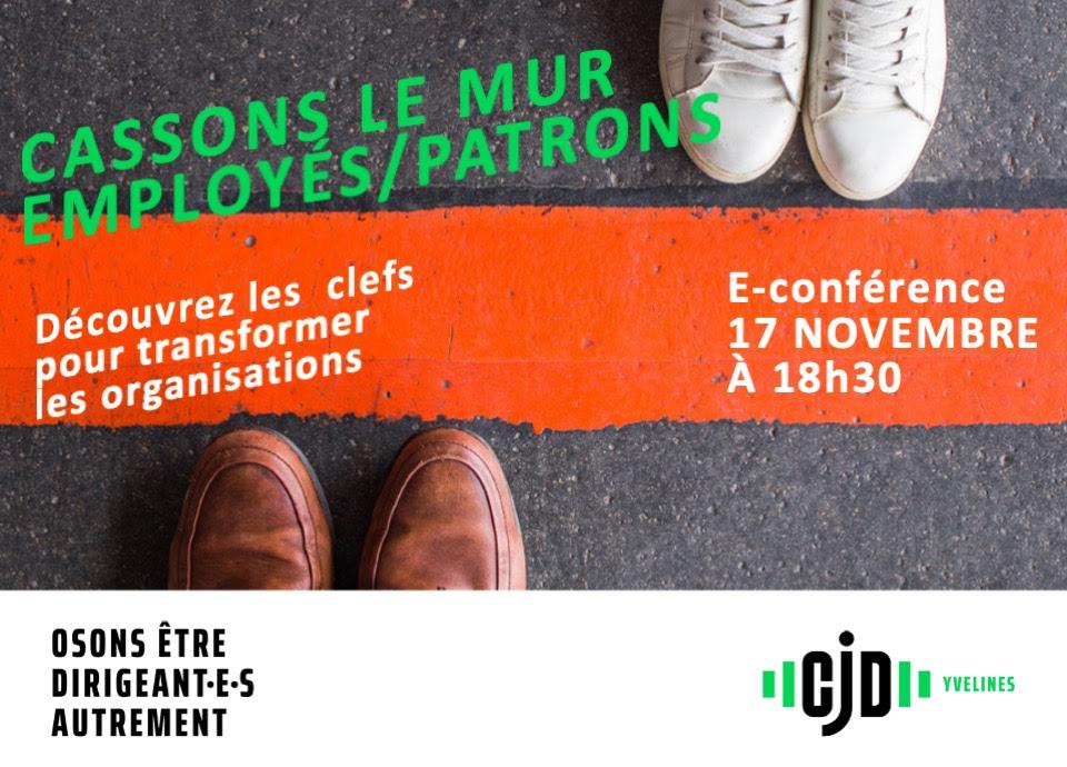 E-conférence du CJD | «Cassons le mur employés/patrons»