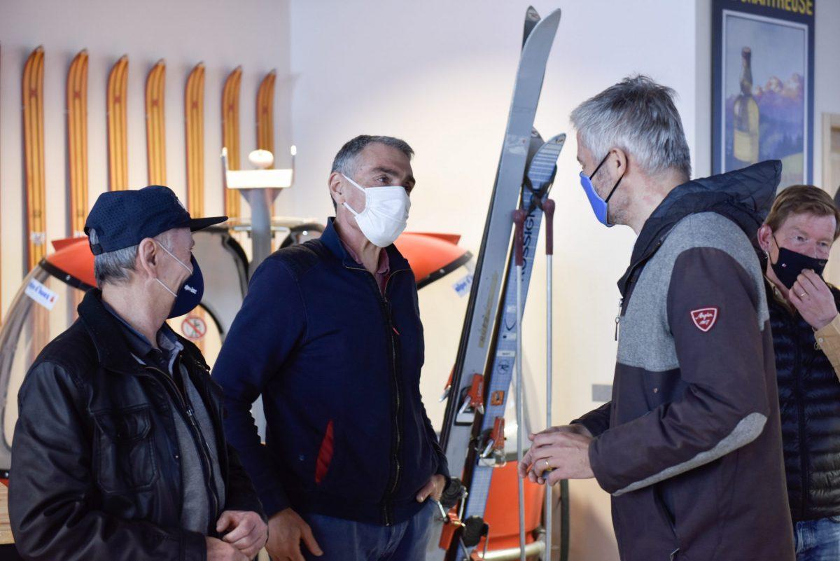 Crise sanitaire | Laurent Wauquiez à l'écoute des acteurs de la montagne