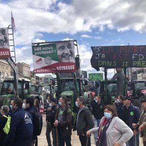 Agriculture |Manifestations à Clermont-Ferrand et Lyon