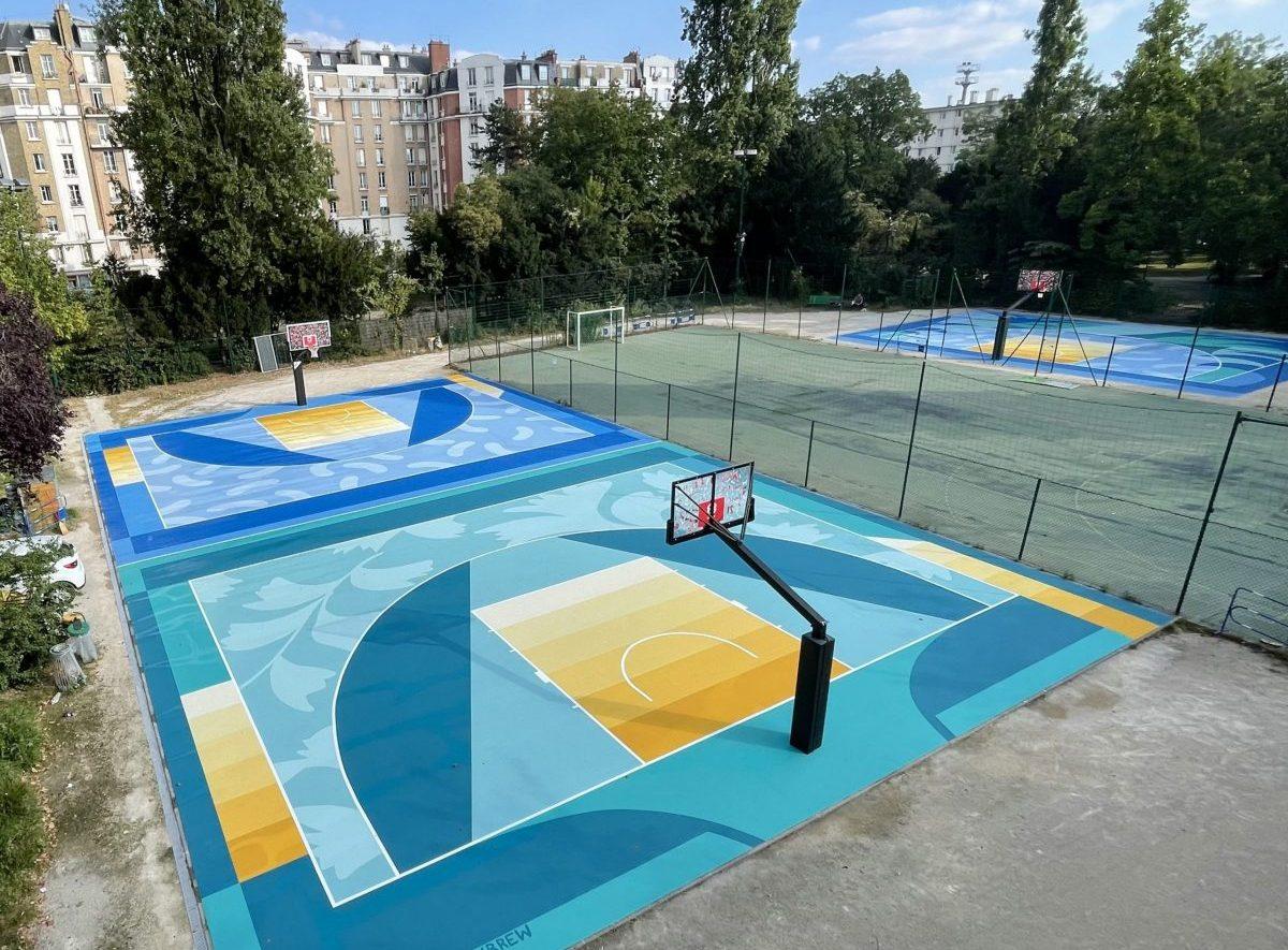 Paris 2024 | 15 terrains de basket 3×3 rénovés à Paris
