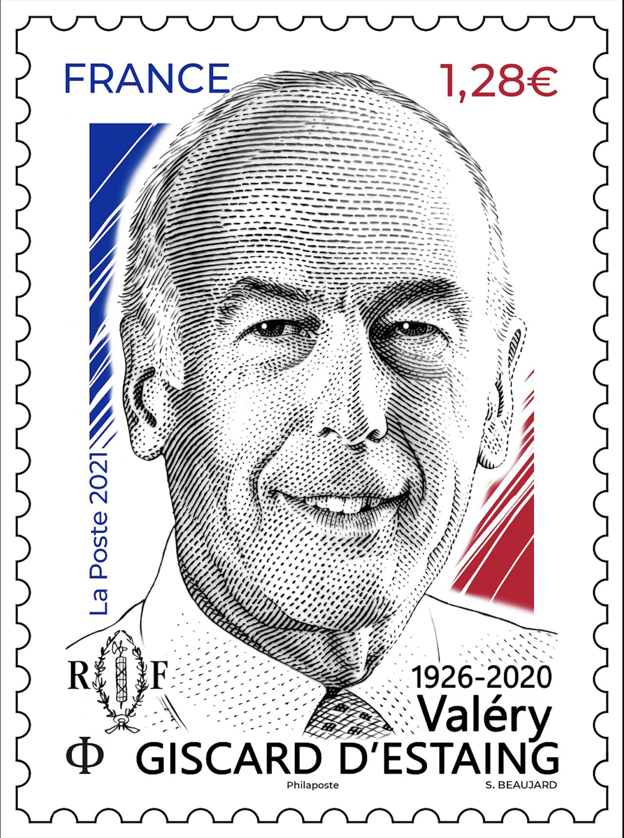 Valéry Giscard d'Estaing   Création d'un timbre commémoratif